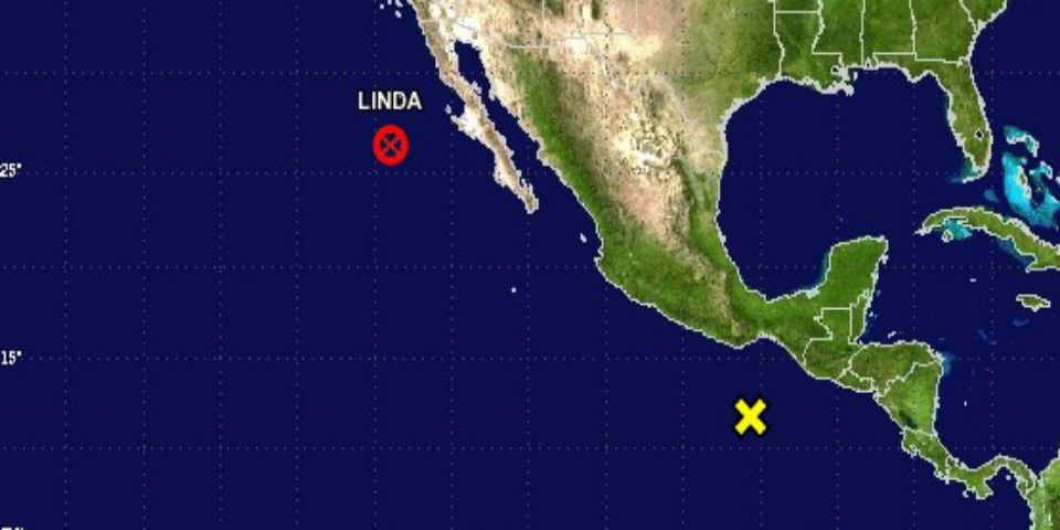 Linda se convierte en sistema de baja presión - Foto de National Hurricane Center