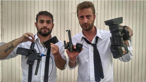 Periodistas italianios que agredieron a Márquez. Foto de El País
