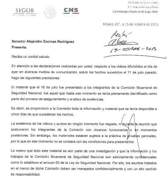 Carta Renato Encinas