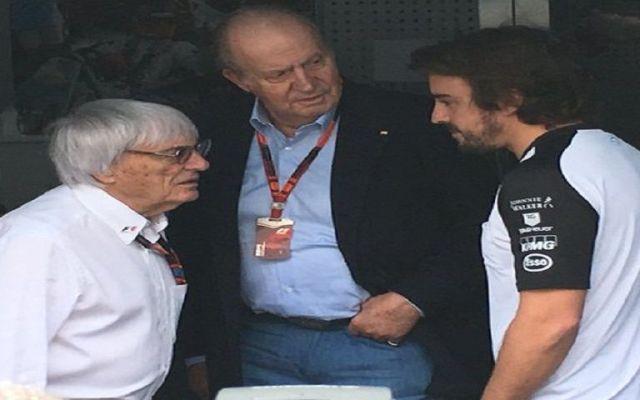 Rey Juan Carlos asiste a GP de México