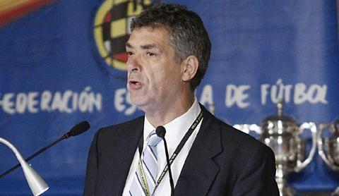 Ángel María Villar. Foto de insidespanishfootball.com