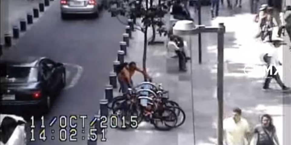 Video: así roban bicicletas en la Ciudad de México - Foto de YouTube