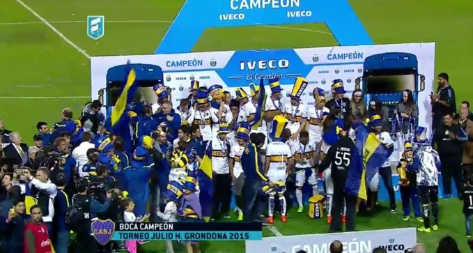 Boca Juniors vuelve a ser campeón en Argentina - Boca Campeón - Foto de Twitter