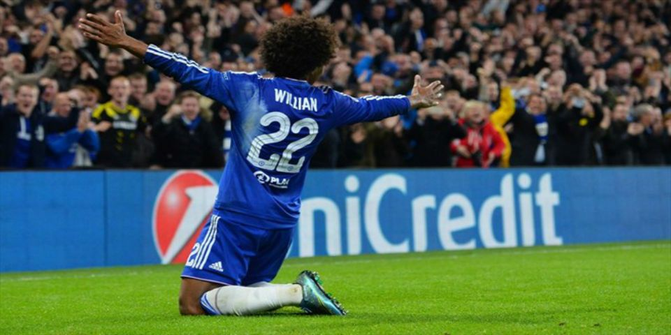 Chelsea gana con golazo de Willian - Foto de UEFA