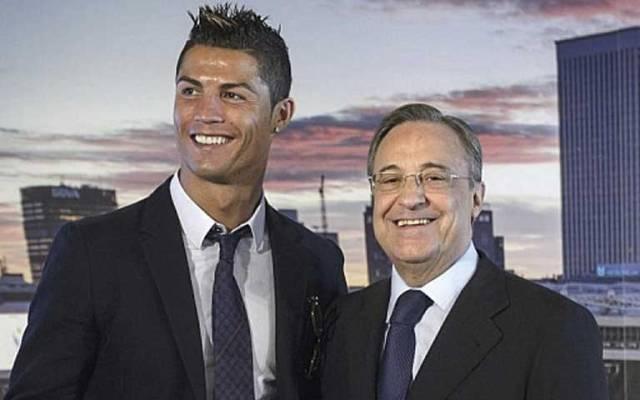 No me he reunido con el PSG ni con nadie: Cristiano a Florentino - Florentino Pérez con Cristiano Ronaldo. Foto de Marca