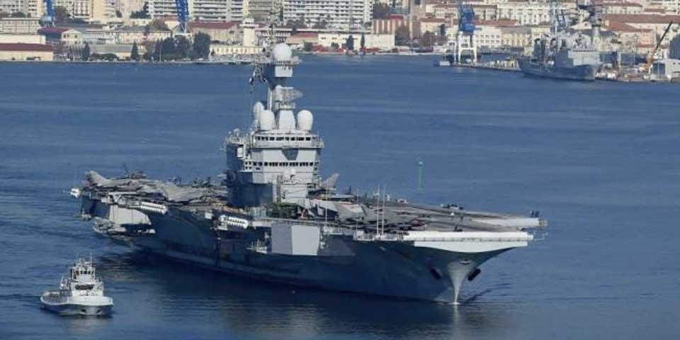 Portaaviones francés parte para enfrentar al EI - Foto de EFE