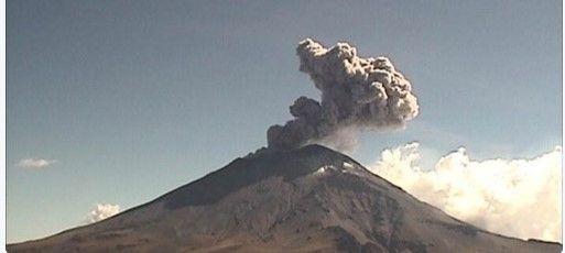 Popocatépetl registra moderada actividad sísmica