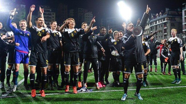 La selección belga lidera el ranking por primera vez en su historia. Foto de Getty