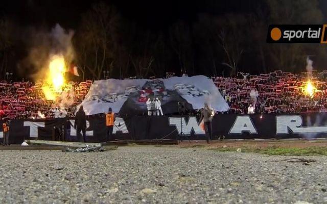 Video: afición búlgara realiza mosaico de Star Wars en la tribuna