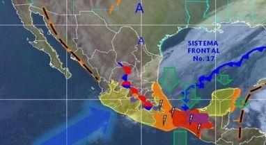 El Frente Frío 17 traerá lluvias a Tabasco y Chiapas - Foto de CONAGUA