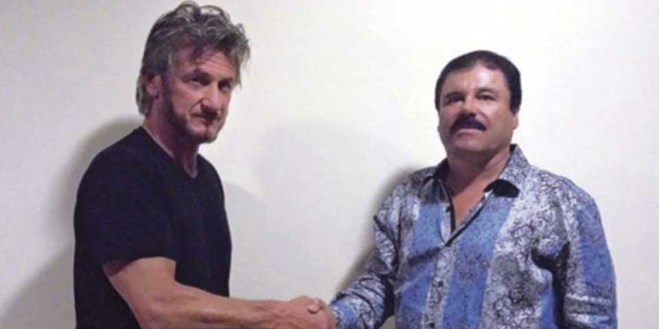 Sean Penn y El Chapo Guzmán. Foto de Rolling Stone