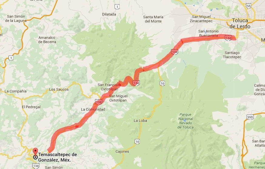 carretera Toluca Temascaltepec