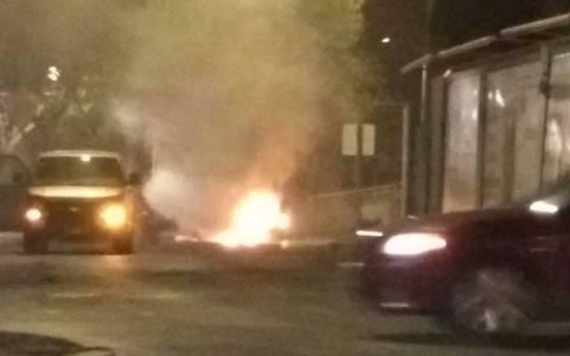 Se incendia BMW en Miguel Hidalgo - Foto de @Hectorcueto54