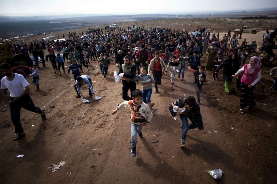 Miles de niños sirios han sido desplazados por los conflictos de su país. Foto de Internet