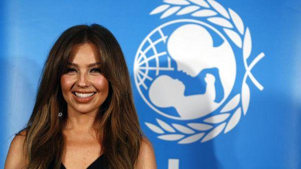 Nombran a Thalía embajadora de buena voluntad de la Unicef - Foto de Internet