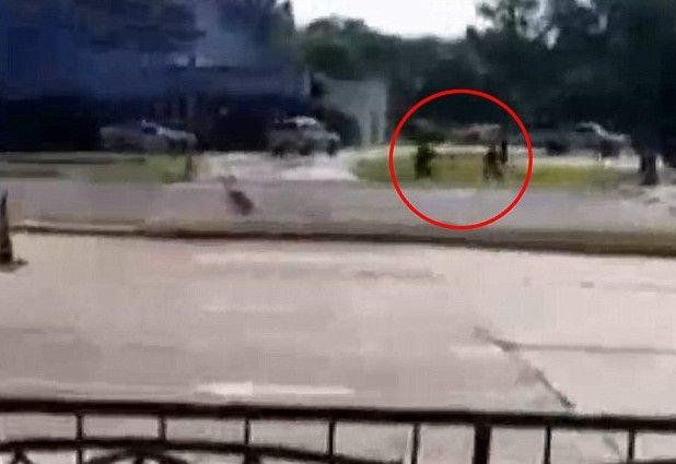 Una llamada anónima alertó de una persona armada en el lugar. Foto de internet
