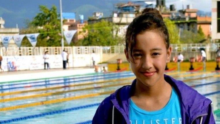 Nadadora nepalí de 13 años, la deportista más joven en Río 2016 - Foto de expreso.