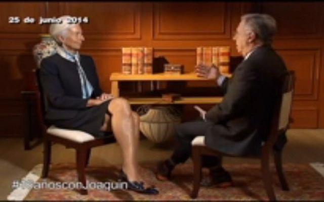 #16añosconJoaquin Entrevista a Christine Lagarde