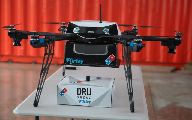 Domino's entregará pizzas con drones