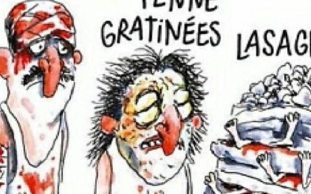 Demandan a Charlie Hebdo por viñeta sobre terremoto en Italia - Foto de Charlie Hebdo.
