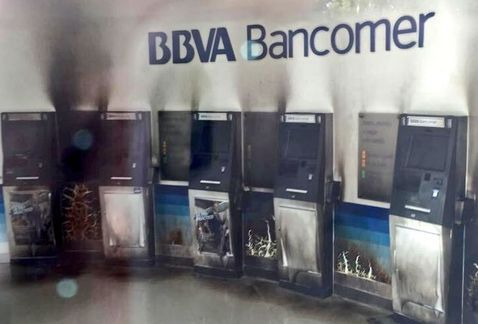 Queman 5 cajeros de Bancomer en Ecatepec - Foto de Internet