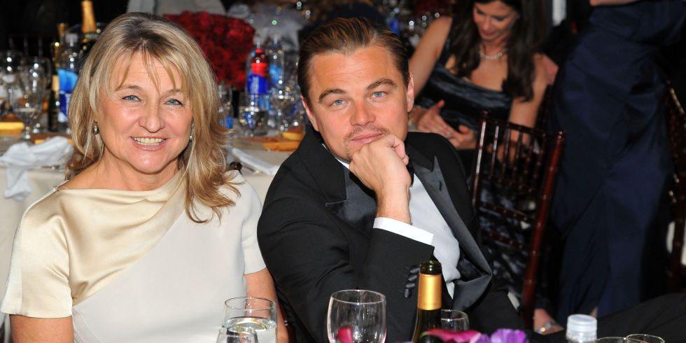 Leonardo DiCaprio y su madre, Ermeline. Foto de Elle