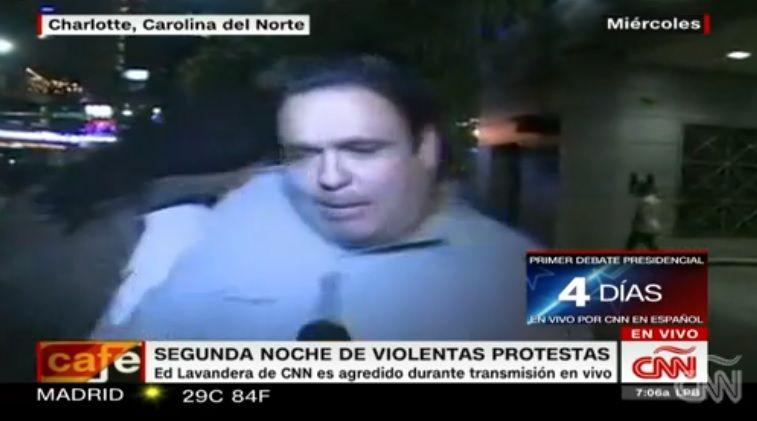 Video: agreden a reportero de CNN durante transmisión en vivo
