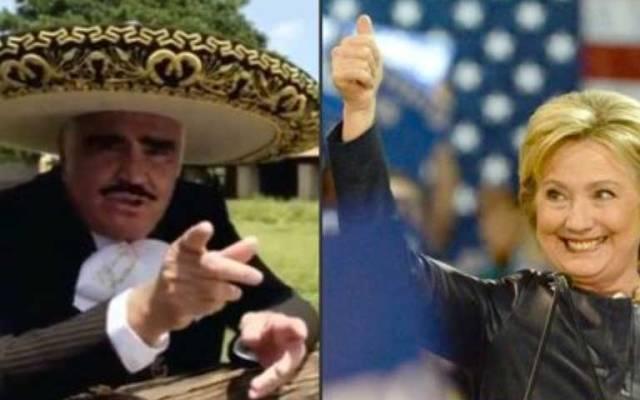 Vicente Fernández y Hillary Clinton organizan 'fiesta' previo a debate - Foto de Internet