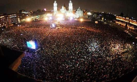 Los conciertos con más asistentes en el Zócalo
