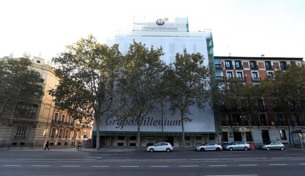 Prestanombres de Javier Duarte compró un departamento de 89 mdp en Madrid - En este edificio en remodelación, ubicada en una de las zonas más caras de Madrid, se ubica la residencia de Mansur Cysneiros. Foto de El País