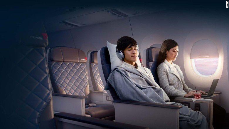 La nueva sección que tendrán los aviones de Delta. Foto de Delta Airlines