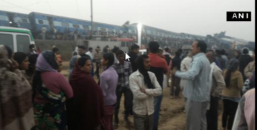 Más de 30 muertos y 100 heridos por descarrilamiento de tren en India - Foto de Twitter