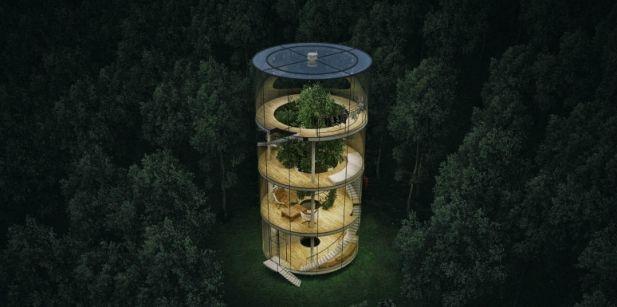 Moderna y autosustentable casa del árbol - Foto de A.Masow Architects