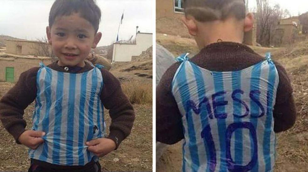 Video: niño afgano conoce a Messi