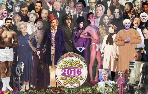 Recrean portada de The Beatles con los famosos que murieron en 2016