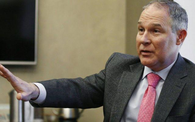 Congreso de EE.UU. recortará presupuesto a medio ambiente - Scott Pruitt. Foto de AP