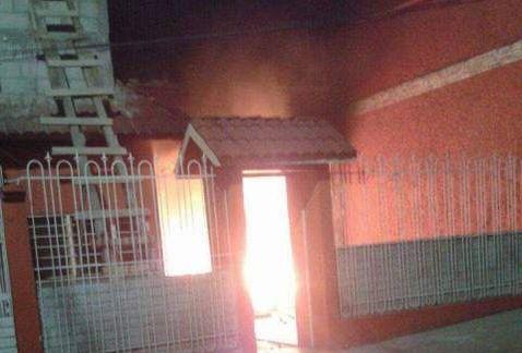 Queman alcaldía en Chiapas por asesinato - Foto de Twitter