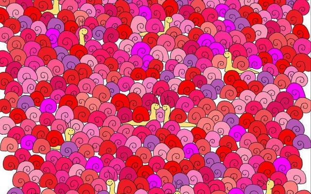 Encuentra el corazón entre los caracoles - Foto de TheDudolf