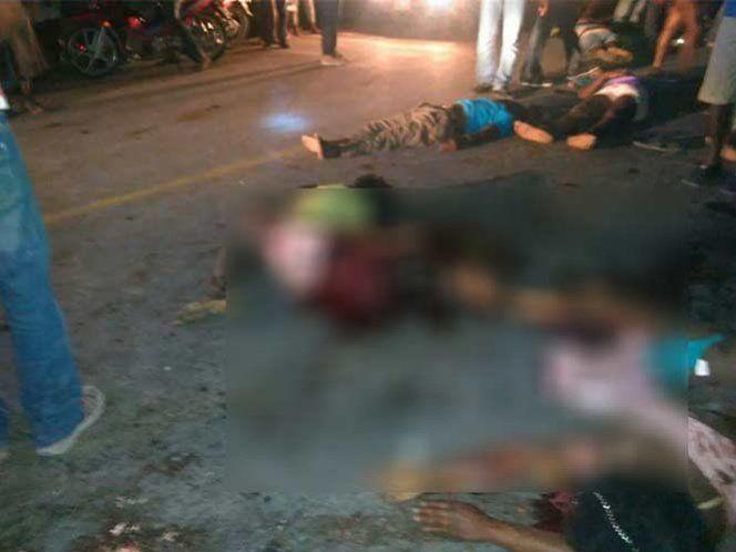 Autobús arrolla a multitud al darse a la fuga en Haiti. Al menos 34 muertos - Foto de Twitter