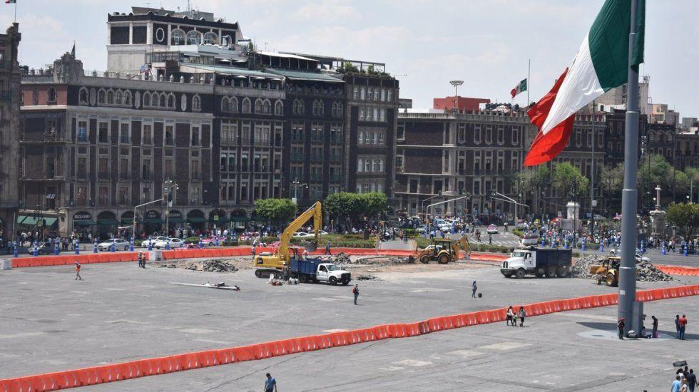 Remodelación del Zócalo terminaría antes de septiembre - Foto de @GobCDMX