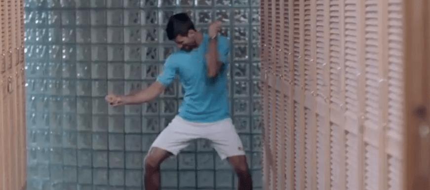 #Video El nuevo baile de Djokovic en el vestidor