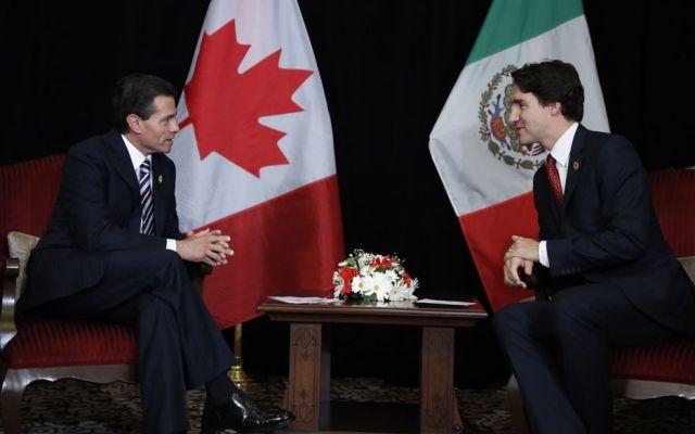 Peña Nieto y Trudeau acuerdan puntos de renegociación del TLC
