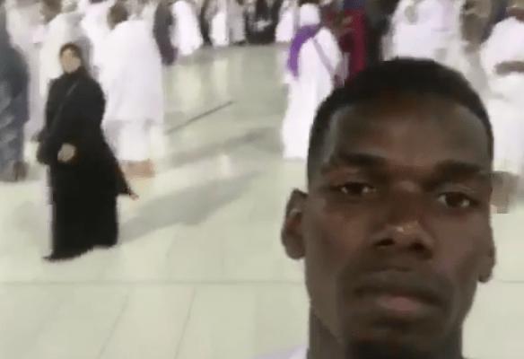 Pogba publica fotos de su viaje a La Meca