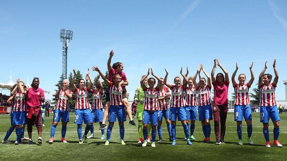 Mexicana gana título con el Atlético de Madrid femenil - Foto de @AtletiFemenino