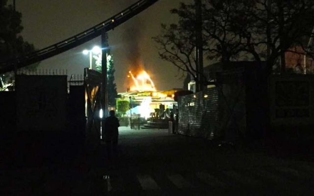 Incendio en la Feria de Chapultepec - Foto de Twitter