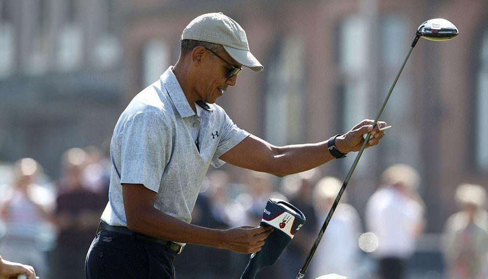 Obama juega golf en Escocia - Foto de Euan Cherry/WENN.com