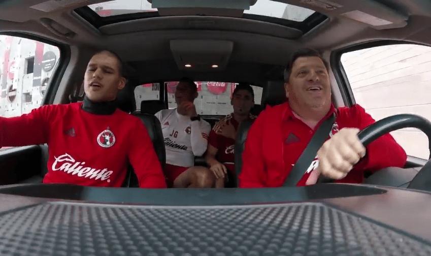 #Video 'Carpool Karaoke' de los Xolos de Tijuana - Foto de Twitter