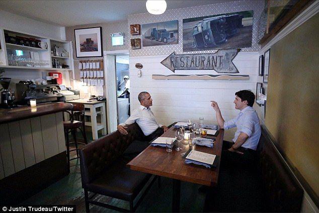 Obama se reune con Justin Trudeau - Foto de @JustinTrudeau
