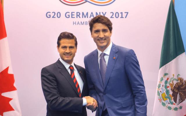EPN y Trudeau confían en lograr buen acuerdo en renegociación del TLC