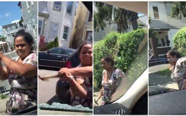 #Video Mujer golpea con martillo la camioneta de su exesposo